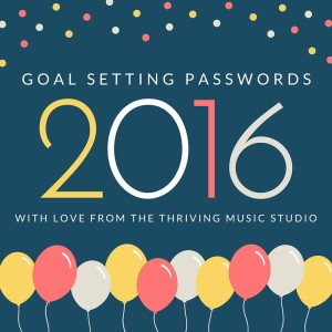 Use goal setting passwords to inspire the whole year through!